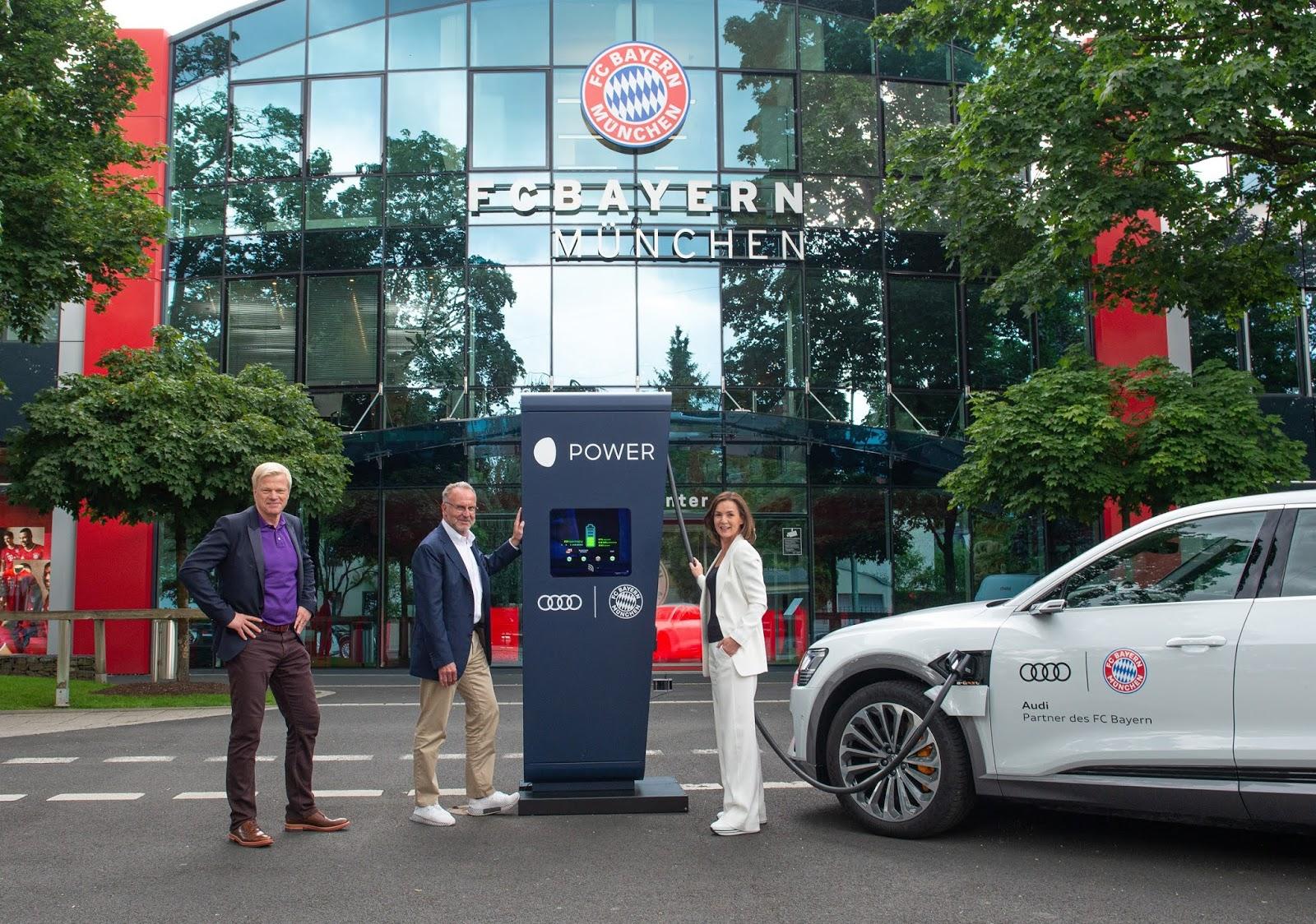 AUDI2B25262BFC2BBAYERN2BMUENCHEN CHARGERS2B252825CE2591 25CE25942BKAHN252C2BRUMMENIGGE252C2BWORTMANN2529 Audi Ε-tron & FC Bayern: φορτίζουν για την αειφορία