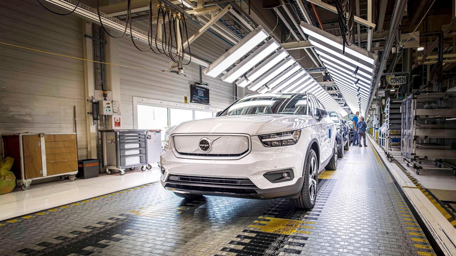 271934 Volvo XC40 Recharge production in Ghent Belgium