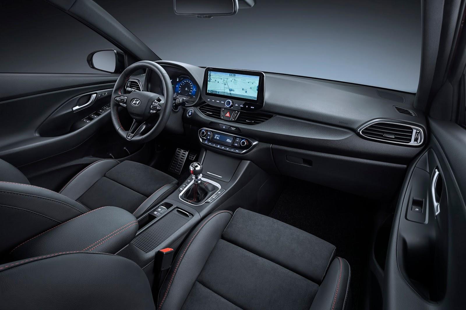 hyundai i30 N Line interior 0220 01 Για πρώτη φορά σε έκδοση N Line το Hyundai i30 Hyundai, Hyundai i30, ειδήσεις, καινούργιο, καινούρια, καινούριο