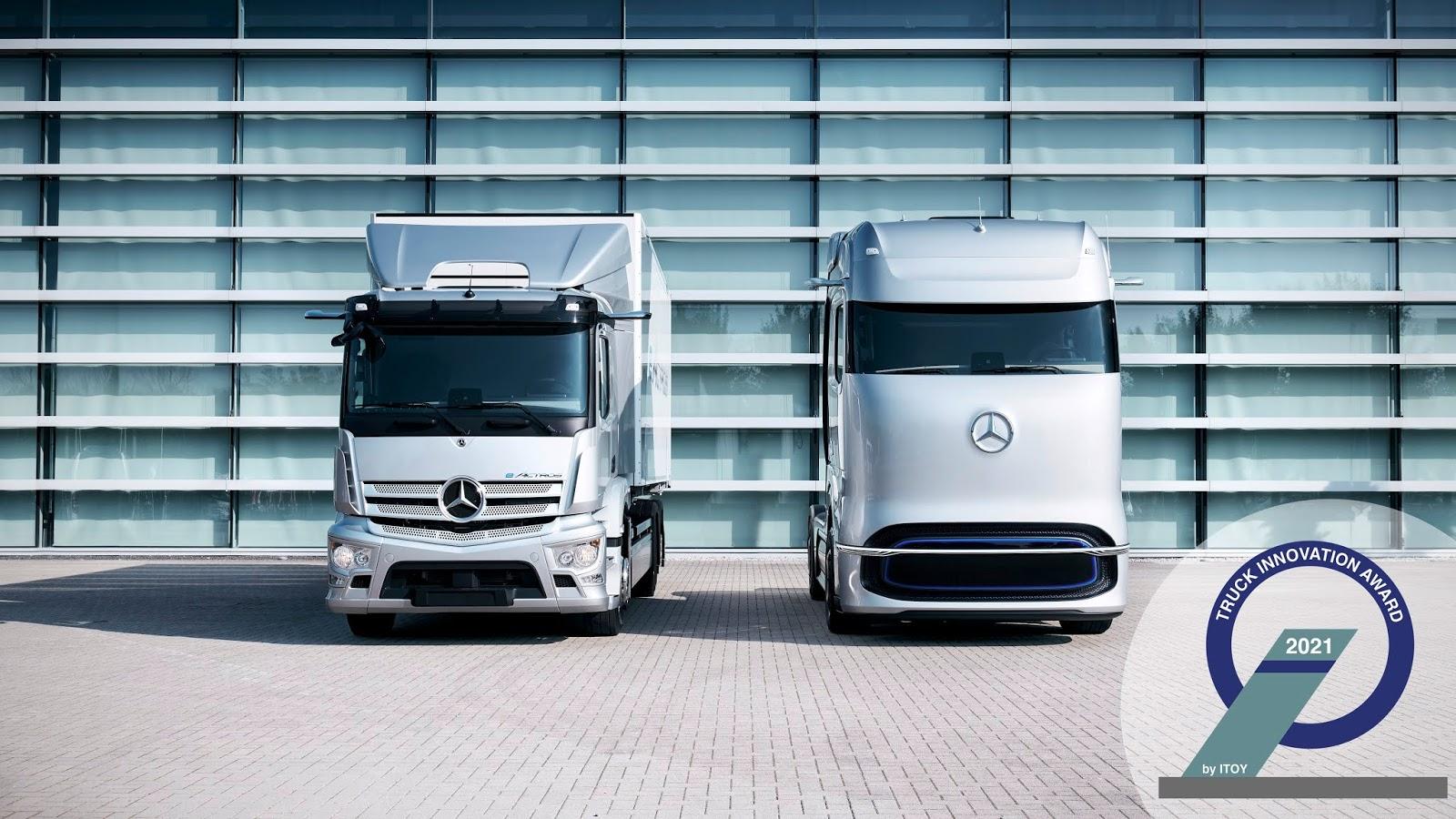20C0706 05 Οι πρωτοπόροι της ηλεκτροκίνησης: το Mercedes-Benz eActros και το Mercedes-Benz GenH2 Truck κερδίζουν το βραβείο καινοτομίας «Truck Innovation Award 2021» electric trucks, EV, Mercedes, Mercedes Benz, ειδήσεις, Επαγγελματικά, Φορτηγά