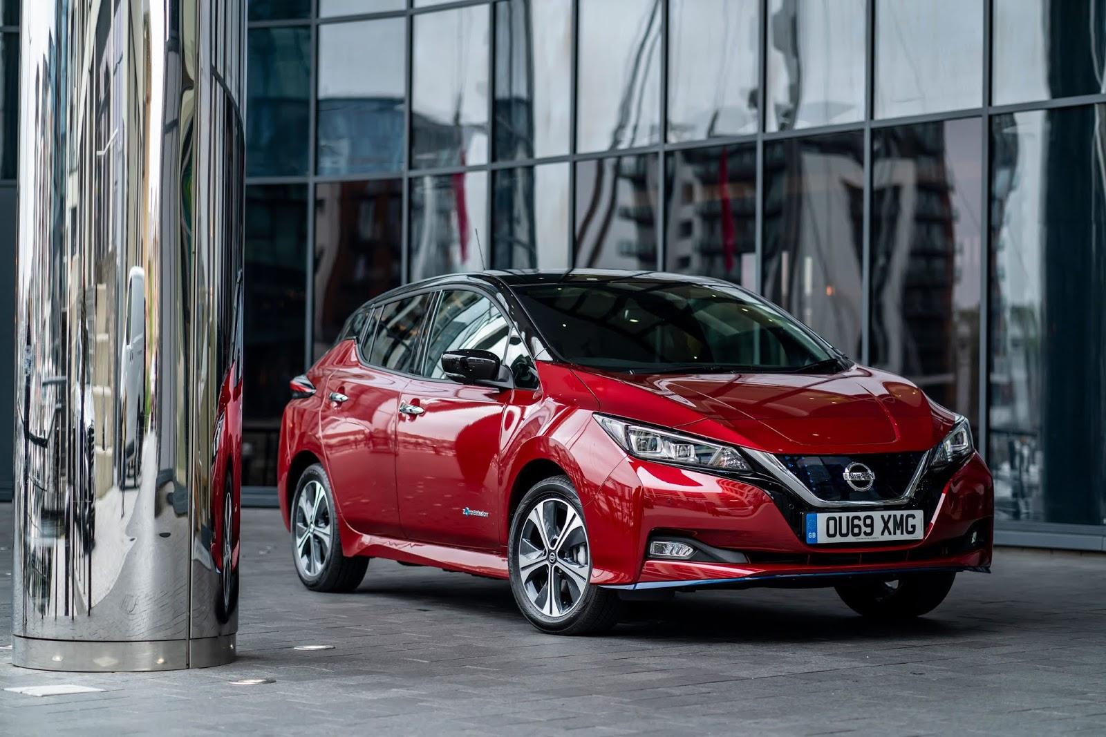 """New Nissan LEAF Το Nissan LEAF ξεπέρασε τις 40.000 πωλήσεις στο Ην. Βασίλειο & έγινε το """"Μεταχειρισμένο Ηλεκτρικό Αυτοκίνητο της Χρονιάς"""""""