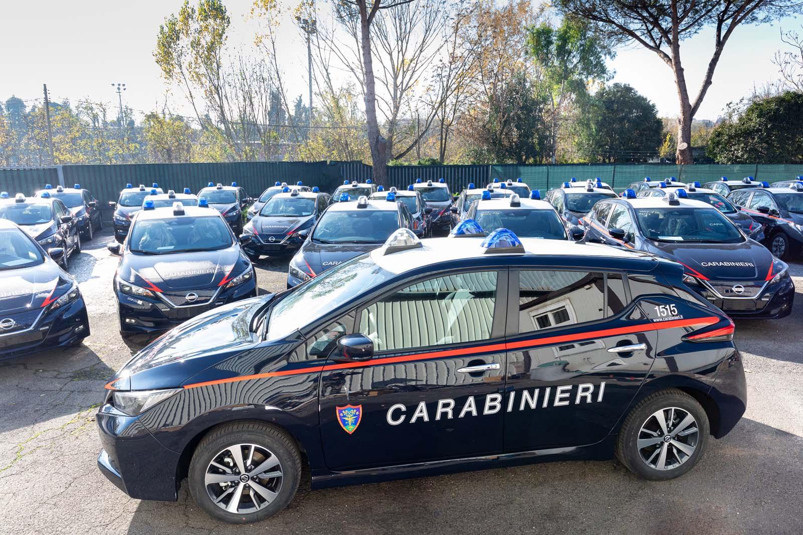 Nissan2BLEAF2Ball2527ARMA2Bdei2BCARABINIERI2B252812529 52 Nissan LEAF για το Σώμα των Carabinieri στην Ιταλία