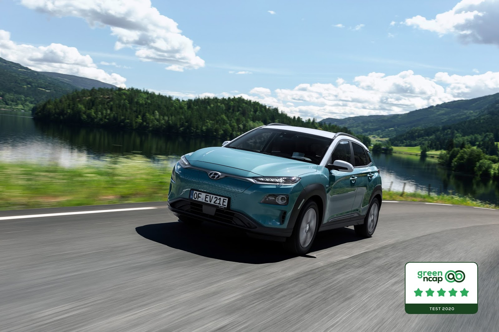 hyundai kona electric green ncap KΟΝΑ Electric : Ηλεκτροκίνηση χωρίς συμβιβασμούς για 10+1 λόγους! Electric cars, electric vehicles, EV, Hyundai, Hyundai Kona, KONA Electric, ειδήσεις, ηλεκτρικά, ηλεκτροκινηση