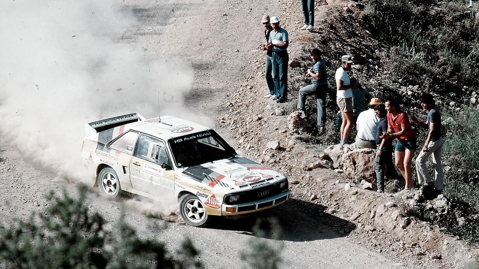 AUDI2BQUATTRO2BACROPOLIS2BRALLY2B1983 Χάνου Μίκολα, πρωταγωνιστής της αγωνιστικής ιστορίας της Audi Audi, Audi Quattro, αγωνες, ειδήσεις