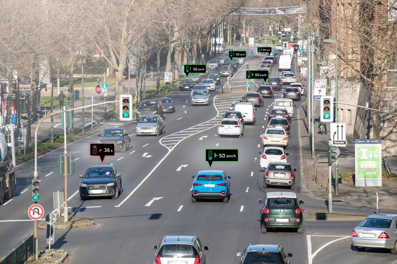 AUDI CAR TO X Προηγμένη τεχνολογία της Audi αυξάνει την οδική ασφάλεια Audi, ειδήσεις