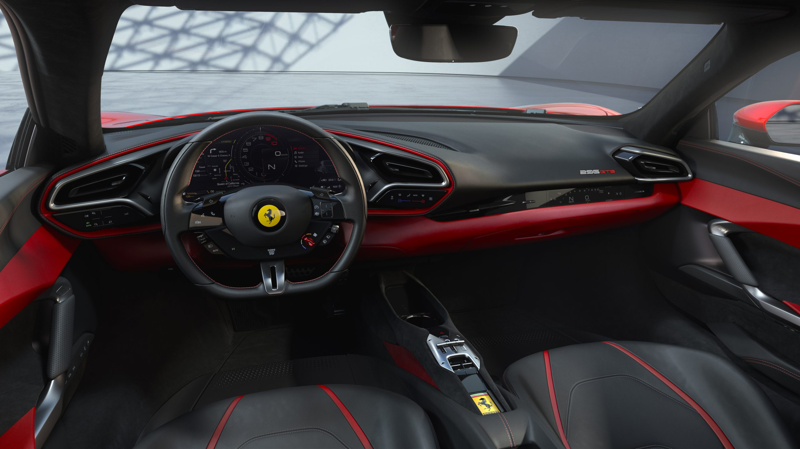 01 296 GTB Interior 34 scaled Αυτή είναι η νέα Ferrari 296GTB 296GTB, Ferrari, Ferrari 296GTB, supercar, supercars, zblog, ειδήσεις, Νέα