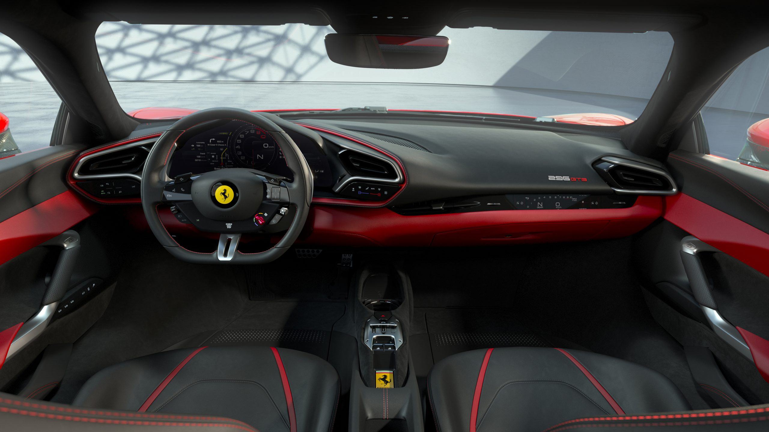 02 296 GTB Interior front scaled Αυτή είναι η νέα Ferrari 296GTB 296GTB, Ferrari, Ferrari 296GTB, supercar, supercars, zblog, ειδήσεις, Νέα