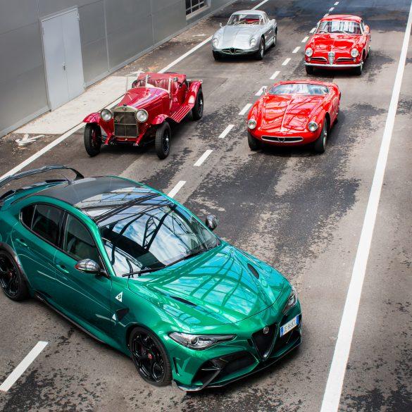 "02 Alfa Romeo and Heritage at the 2021 1000 Miglia H Alfa Romeo ετοιμάζεται για το 39ο ιστορικό ""1000 Miglia"""