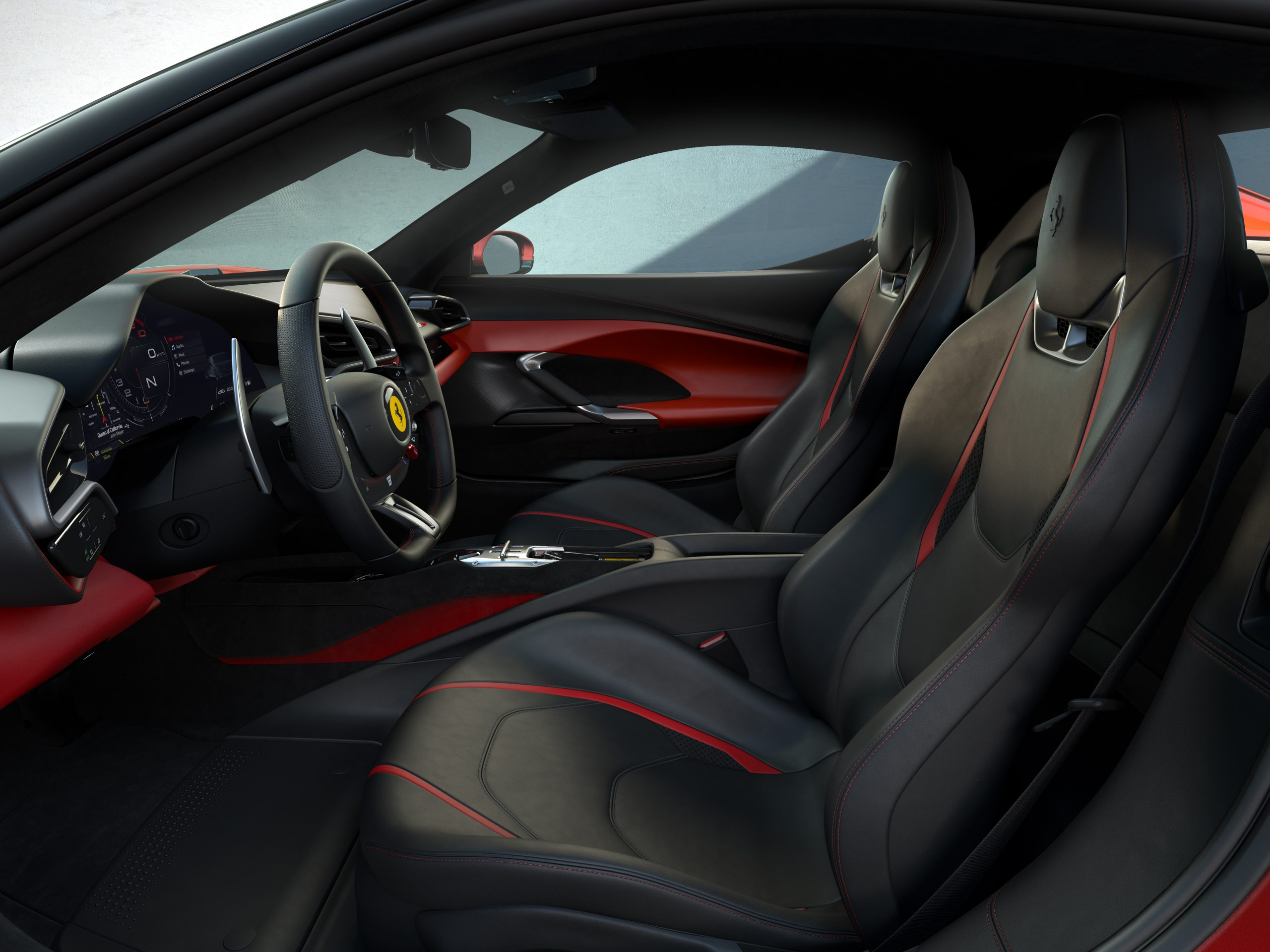 03 296 GTB Interior side scaled Αυτή είναι η νέα Ferrari 296GTB 296GTB, Ferrari, Ferrari 296GTB, supercar, supercars, zblog, ειδήσεις, Νέα