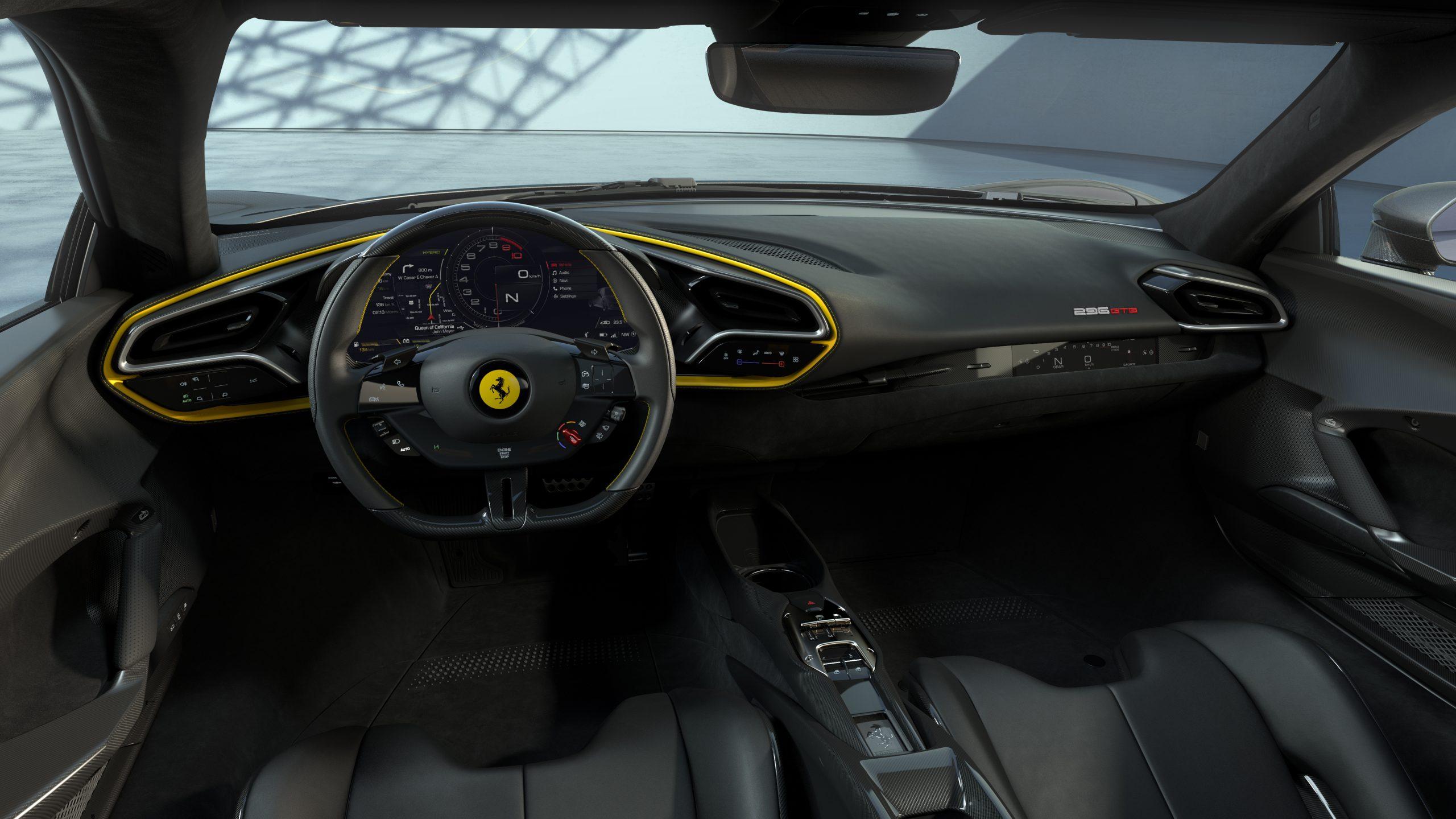 05 296 GTB Assetto Fiorano interior 34 scaled Αυτή είναι η νέα Ferrari 296GTB 296GTB, Ferrari, Ferrari 296GTB, supercar, supercars, zblog, ειδήσεις, Νέα