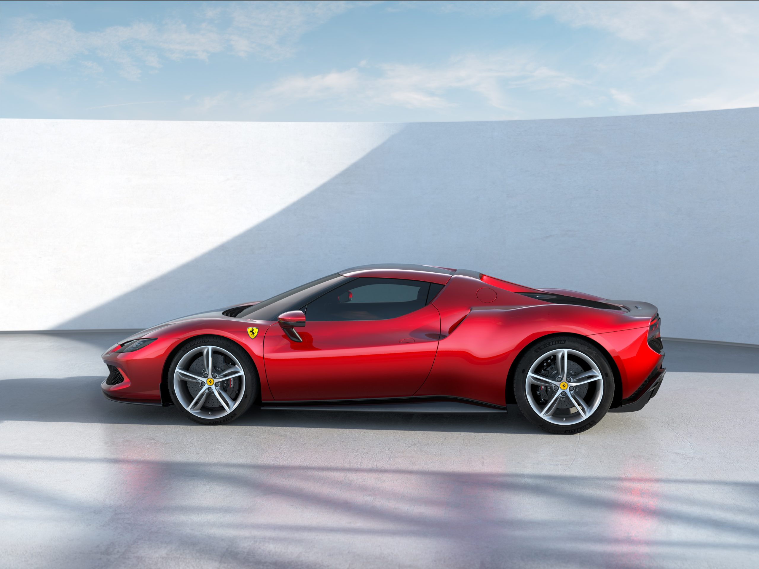 06 296 GTB side scaled Αυτή είναι η νέα Ferrari 296GTB 296GTB, Ferrari, Ferrari 296GTB, supercar, supercars, zblog, ειδήσεις, Νέα
