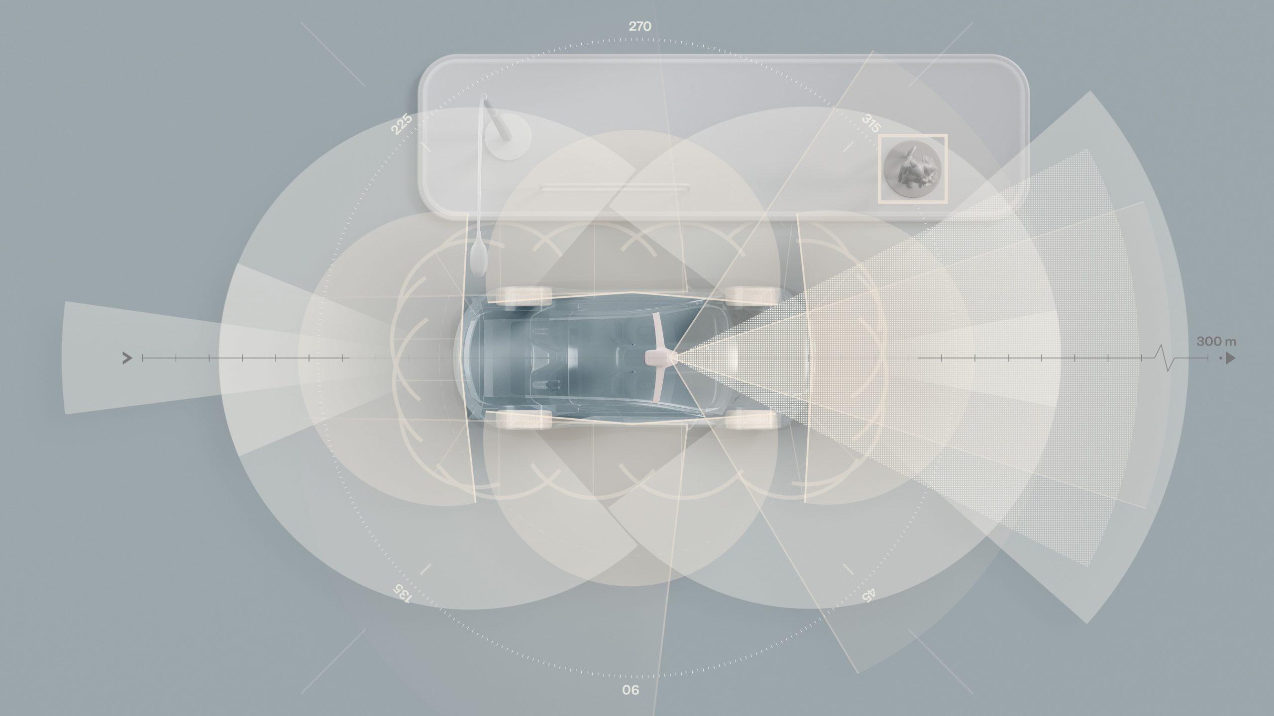 283467 Sensors on electric successor to XC90 Complete sensor set scaled Το επόμενο Volvo EV θα διαθέτει υπερυπολογιστή τεχνητής νοημοσύνης! electric vehicles, EV, Volvo, Volvo Cars, ειδήσεις, Νέα