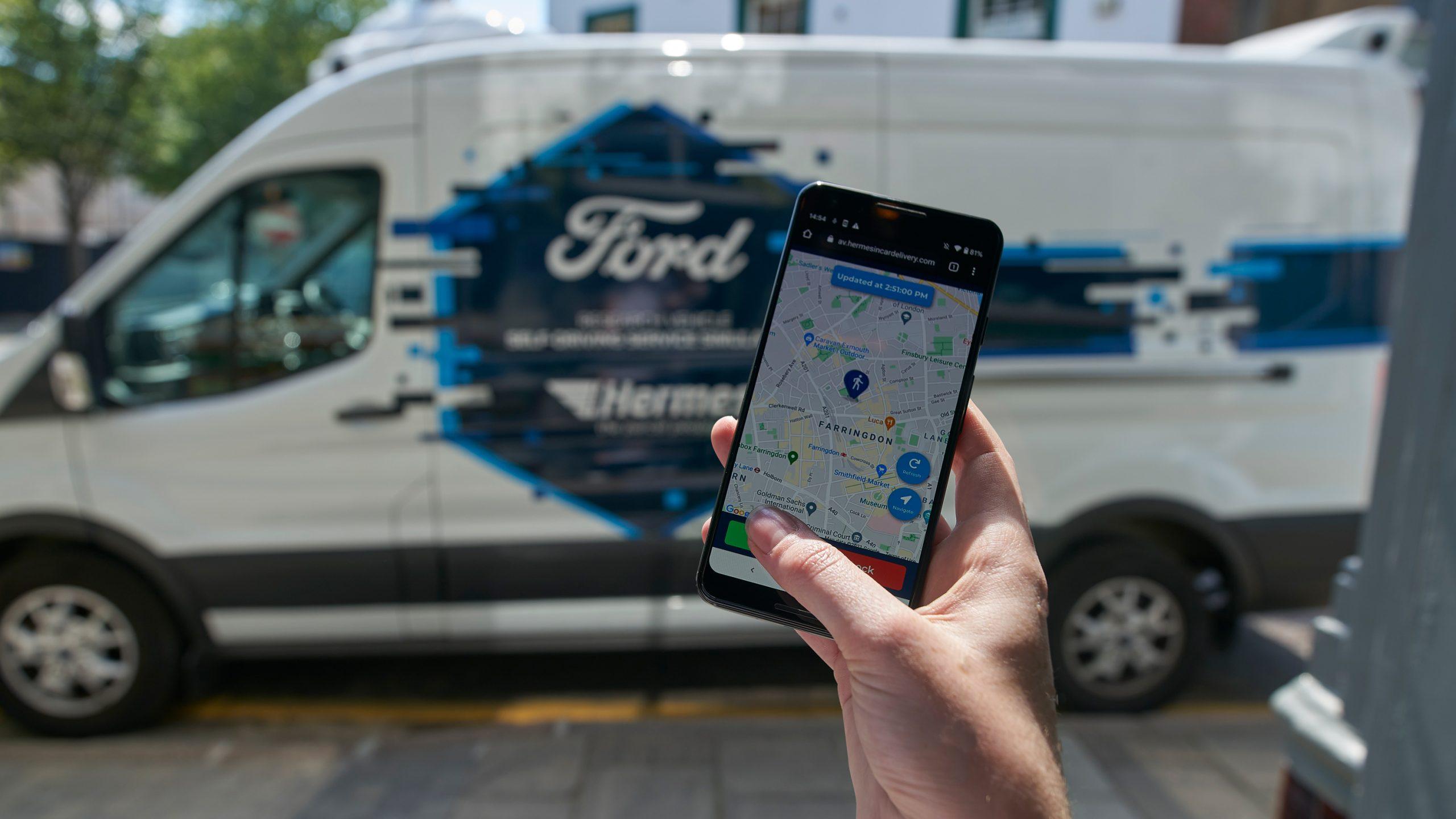 SHOT 08 AV Tease App 16 9 scaled Θα εμπιστευόσουν τα δέματά σου, σε ένα van χωρίς οδηγό; Ford, Ford Transit, ειδήσεις, Επαγγελματικά, Νέα