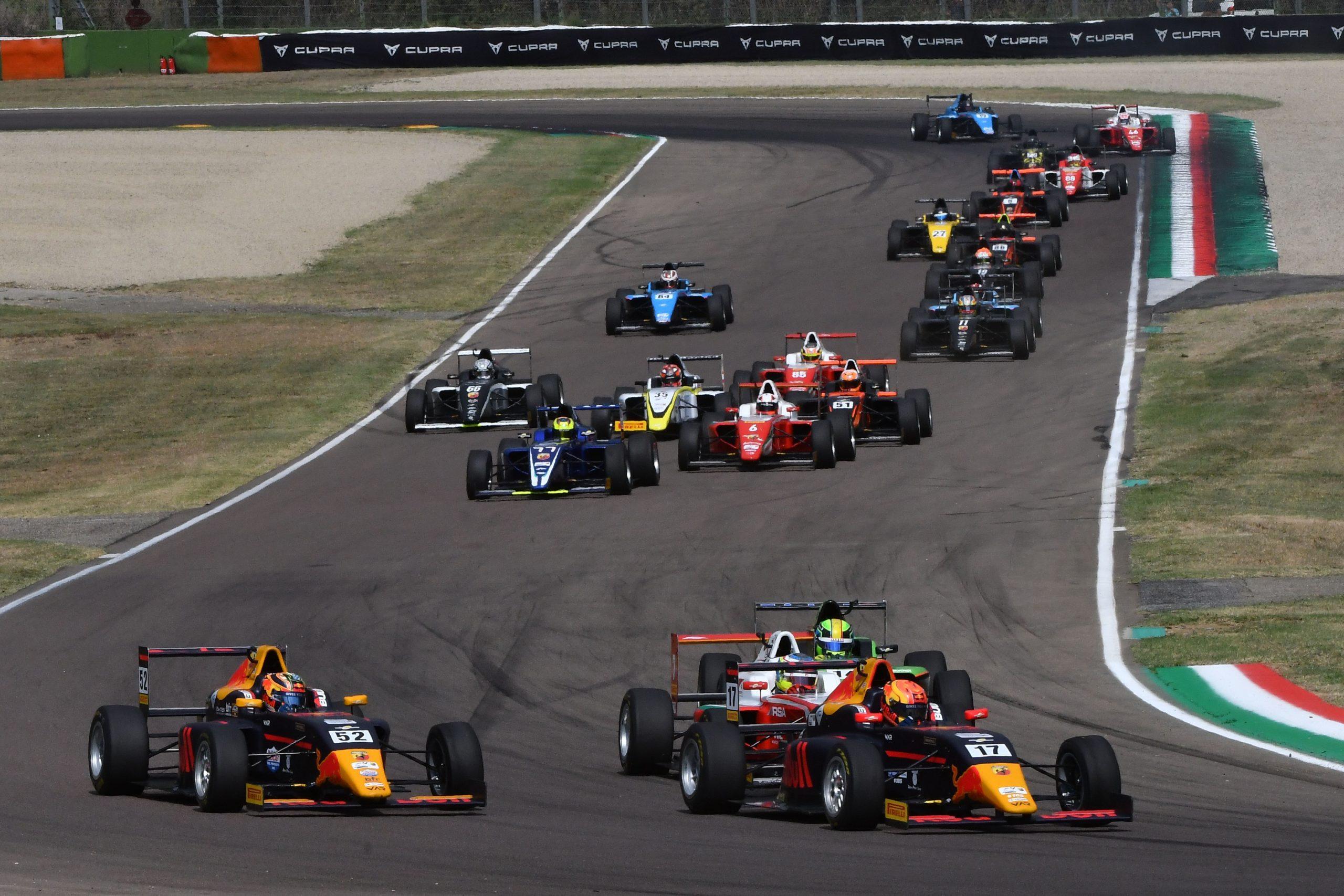 Start Race1 Imola Circuit scaled H Ιταλική Formula 4, συνεχίζει στη Vallelunga Abarth, Formula 4, αγωνες, ειδήσεις, Νέα