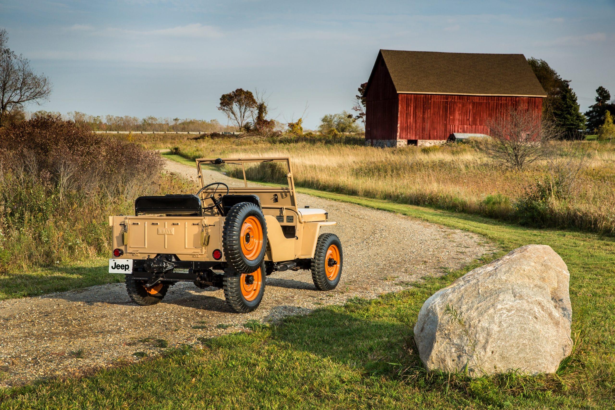01 11th moment 1945 CJ2A scaled 12 ορόσημα, για τα 80α γενέθλια της Jeep Jeep, Jeep Cherokee, Jeep Compass, Jeep Gladiator, Jeep Grand Cherokee, Jeep Renegade, Jeep Willys, Jeep Wrangler, ειδήσεις, Νέα