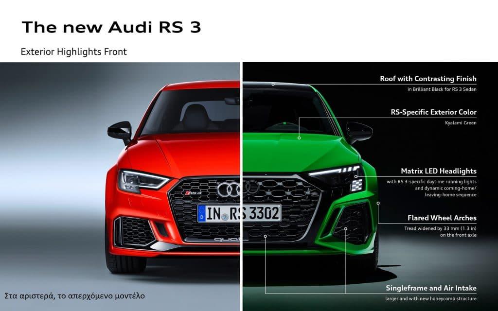 AUDI RS 3 INFOGRAFIK 1 Με drift mode, semi-slick και 400 PS έρχεται το Audi RS3 Audi, Audi RS3, drift, zblog, καινούρια, τιμές