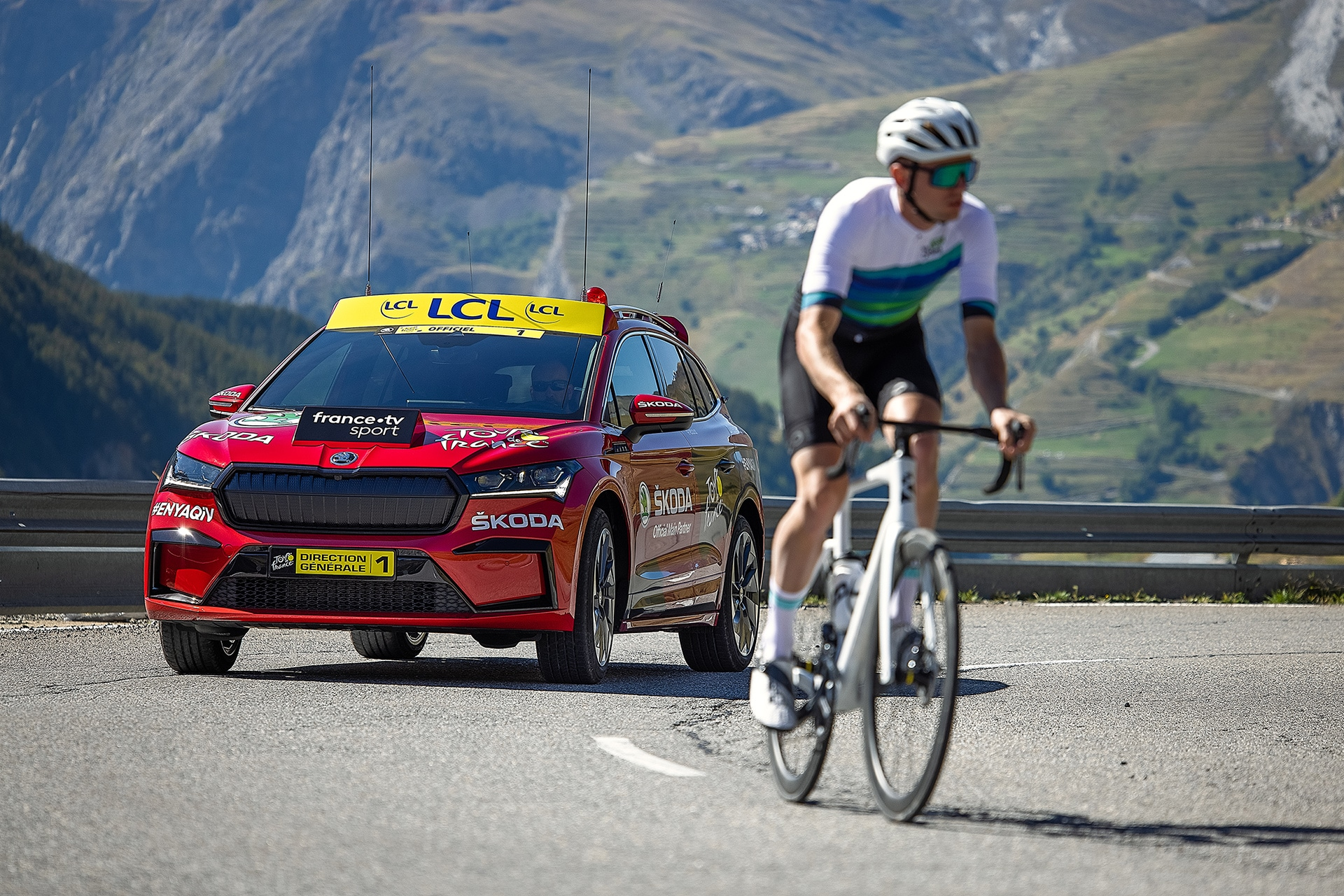 "SKODA TOUR DE FRANCE 2021 3 Η SKODA ""έτρεξε"" στο Tour de France 2021 με το ENYAQ iV Skoda, Skoda ENYAQ iV, Tour De France, ειδήσεις, Νέα"
