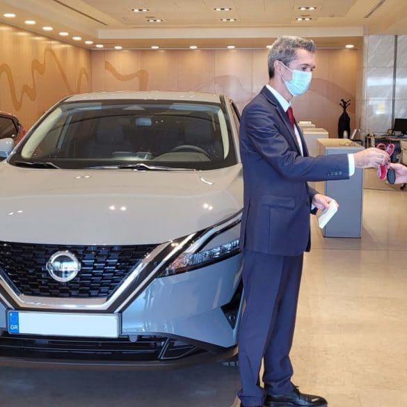 Qashqai handover 1 Ξεκίνησαν να παραδίδονται τα πρώτα νέα Nissan Qashqai στην Ελλάδα